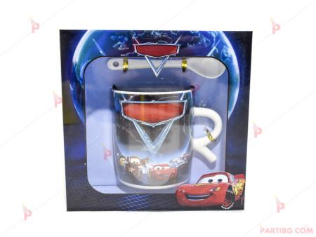 Детска чаша с лъжичка - декор Колите в кутия 3