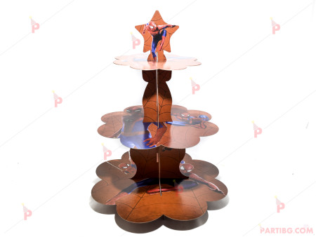 Стойка/поставка за кексчета и сладки - Спайдърмен