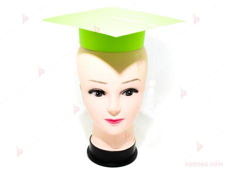 Шапка за дипломиране-зелена