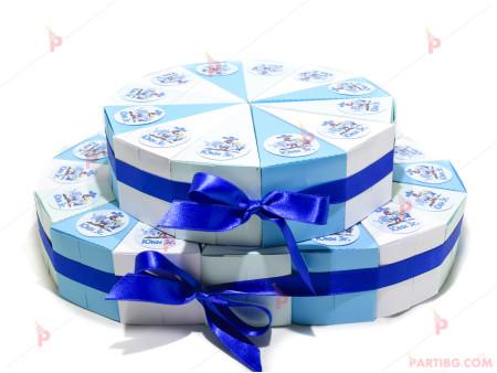 Картонена торта с декор Смърфовете / The Smurfs - 28 парчета